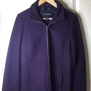 LAND'S END Purple Wool Lined Coat/Jacket